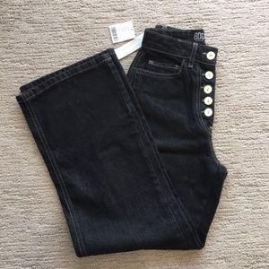 BDG wide-leg black denim jeans, Size 25 NWT